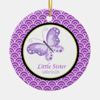 Lila kleine Schwester-Schmetterlings-Verzierung Keramik Ornament