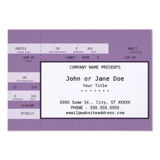 lila Konzertkarte 8,9 X 12,7 Cm Einladungskarte