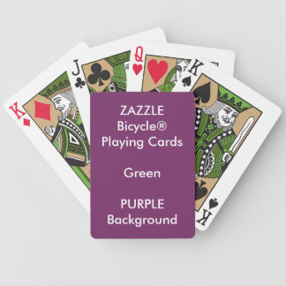 LILA kundenspezifisches Bicycle® Grün-Spielkarten Spielkarten