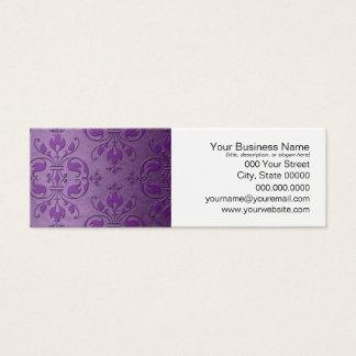 Lila Lavendel-extravaganter Damast Mini Visitenkarte