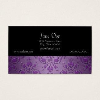 Lila Lavendel-extravaganter Damast Visitenkarte