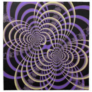 Lila Lavendel-Gitter-Servietten Stoffserviette
