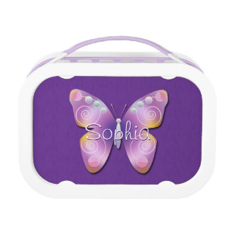 Lila Lavendel-Schmetterling Brotdose
