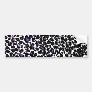 Lila Leopard-Muster Autoaufkleber