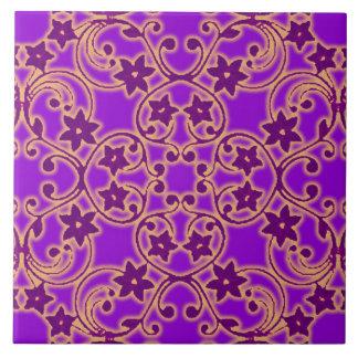 Lila marokkanisches inspiriertes Muster-große Keramikfliese