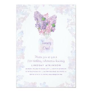 Lila Maurer-Glas| 12,7 X 17,8 Cm Einladungskarte