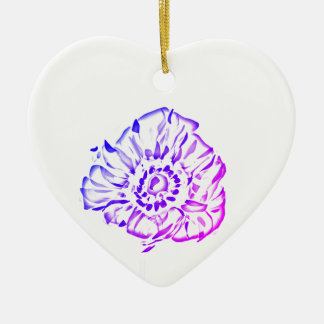 lila Mohnblumen Keramik Ornament