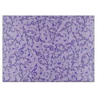 Lila Musiknoten-Blumenmuster-Ausschnitt-Brett Schneidebrett