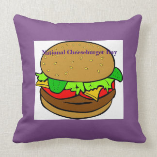 Lila nationales Cheeseburger-Tageskissen Kissen