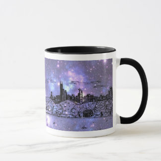 Lila Nebelfleck-Comic-Art-Chicago-Tasse Tasse