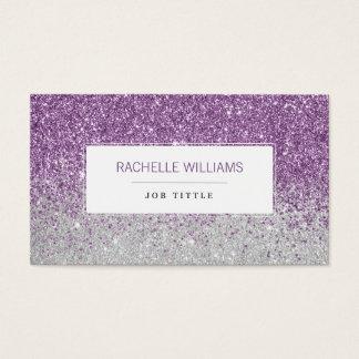 Lila Ombre Glitter Visitenkarte
