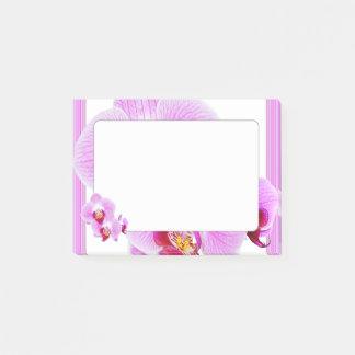 Lila Orchideen-Nahaufnahme-Blumenphotographie Post-it Klebezettel