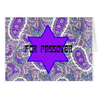 Lila Paisley-Passahfest Karte