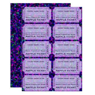 Lila Partyraffle-Karten für Einladungen