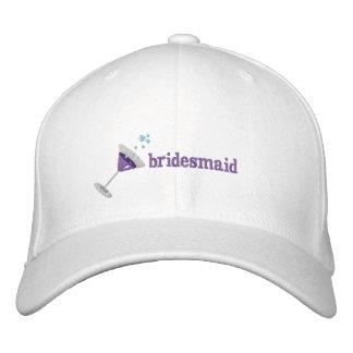 Lila personalisierter gestickter Hut Martinis Bestickte Baseballmütze