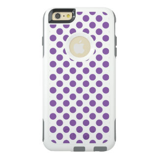 Lila Polka-Punkte OtterBox iPhone 6/6s Plus Hülle