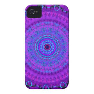 Lila PsycheMandalakaleidoskop iPhone 4 Kasten iPhone 4 Case-Mate Hüllen