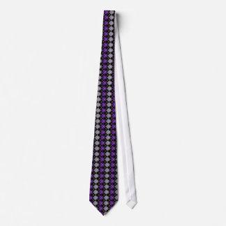 Lila Raute Bedruckte Krawatten