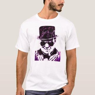 Lila retro Churchill T-Shirt