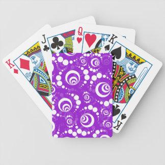 Lila Retro Ernte-Kreise Spielkarten