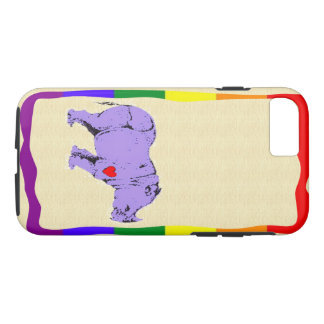 Lila rhinocerous Kasten i-Telefons 7 iPhone 8/7 Hülle