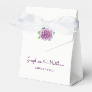 Lila Rosen-Hochzeit Geschenkschachtel