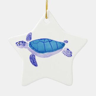 Lila Schildkröte Keramik Stern-Ornament
