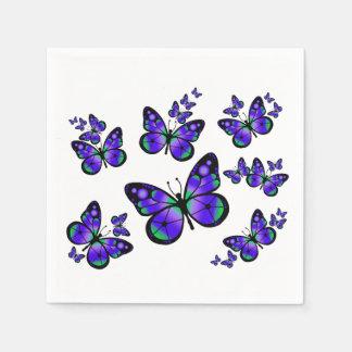 Lila Schmetterling Serviette