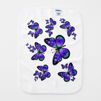 Lila Schmetterlinge Spucktuch