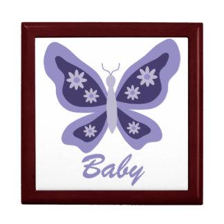 Lila schöner Schmetterlingsandenkenkasten Große Quadratische Schatulle