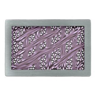 Lila Schwarz-weiße abstrakte Rechteck-Schnalle Rechteckige Gürtelschnallen