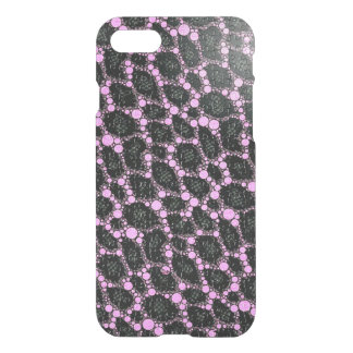 Lila schwarzes Leopard-Puzzlespiel iPhone 8/7 Hülle