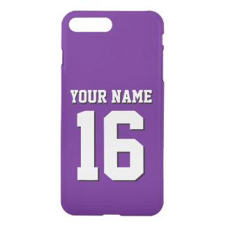 Lila Sport Jersey/Team Jersey iPhone 8 Plus/7 Plus Hülle