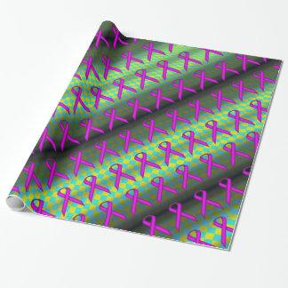 Lila Standardband-Muster Geschenkpapier