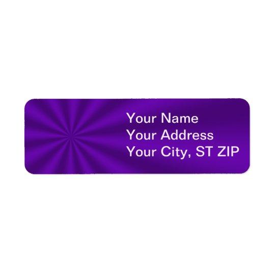Lila Sternexplosion-Adressen-Etiketten Kleiner Adressaufkleber