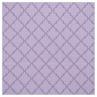 Lila Ton Quatrefoil Muster Stoff