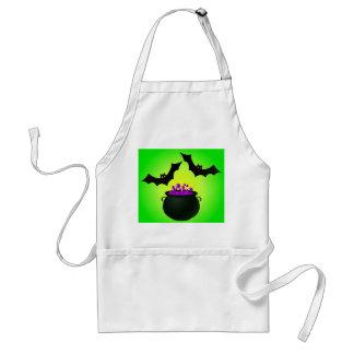 Lila Trank und Schläger-Grün Schürze