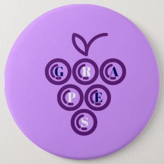 Lila Trauben Runder Button 15,3 Cm