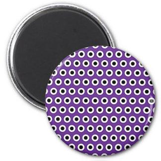 Lila u. schwarze Punkt-Magneten Runder Magnet 5,7 Cm