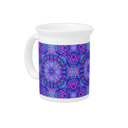 Lila und blaue Kaleidoskop-Porzellan-Krüge Krug