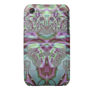 Lila und blaue Spitze Case-Mate iPhone 3 Hülle
