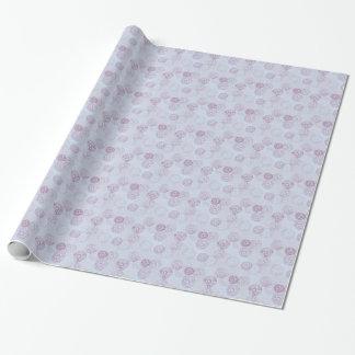 Lila und blauer Blumen-Explosions-Entwurf Geschenkpapier
