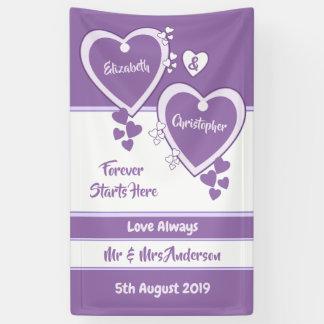 Lila und lila Hochzeits-Hintergrund Banner