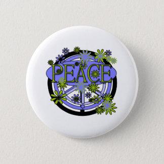 Lila und Limoner Frieden Runder Button 5,7 Cm