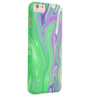 lila und Limones Marmorierungabstraktes Barely There iPhone 6 Plus Hülle
