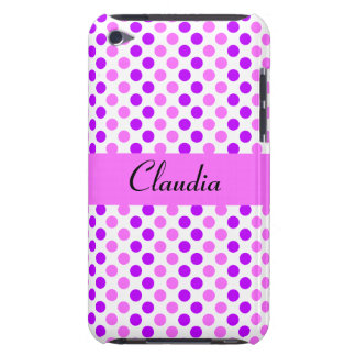 Lila und rosa Polka-Punkte iPod Touch Case-Mate Hülle