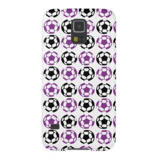 Lila und schwarzer Fußball Samsung S5 Cover