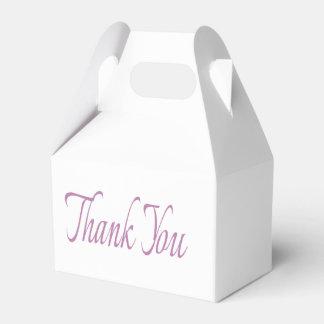 Lila und Weiß danke Hochzeits-Party Geschenkkartons