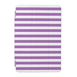 Lila und weißes Streifen-Muster iPad Mini Hülle