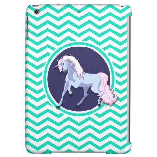 Lila Unicorn; Aqua-grünes Zickzack